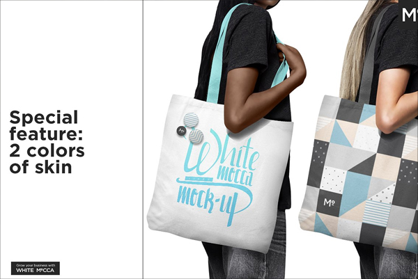 Canvas Shopper Bag Mockup