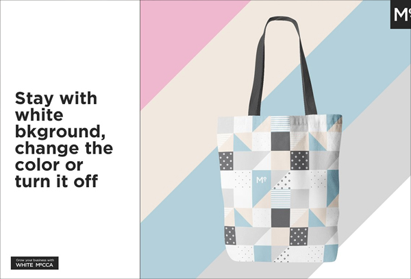 Canvas Tote Bag Mockup PSD Template