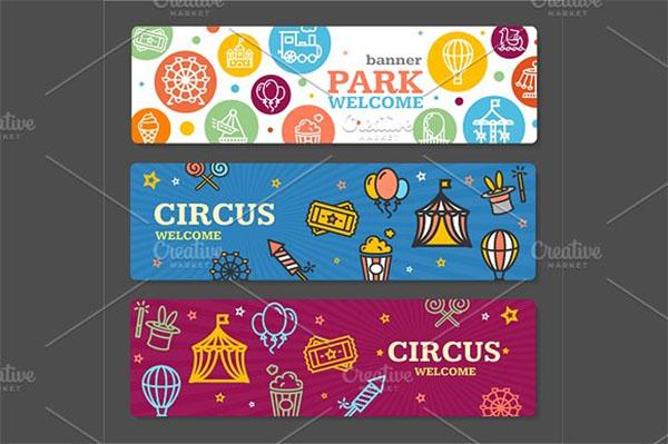 Carnival Circus Amusement Park Banner Card