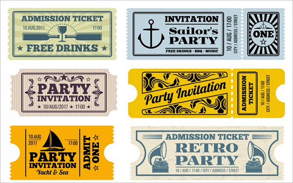 Carnival Retro Cinema Party Invitation