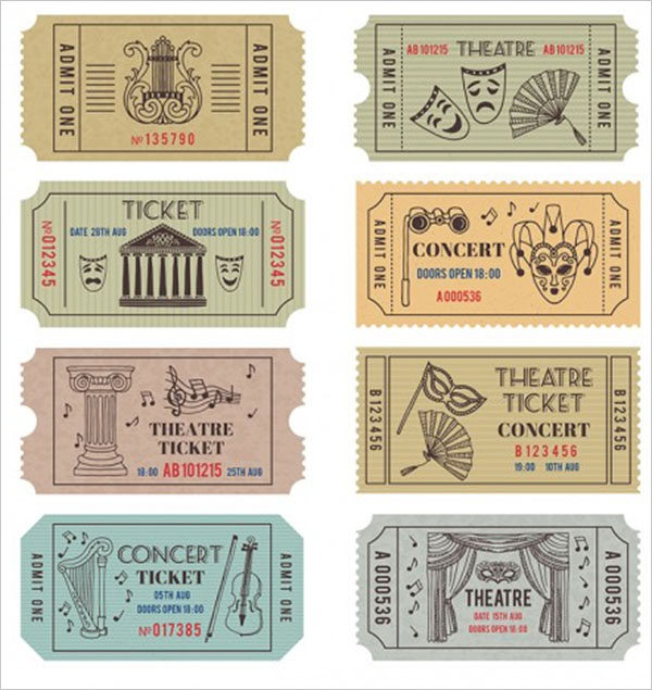 Carnival Vintage Invitation Ticket