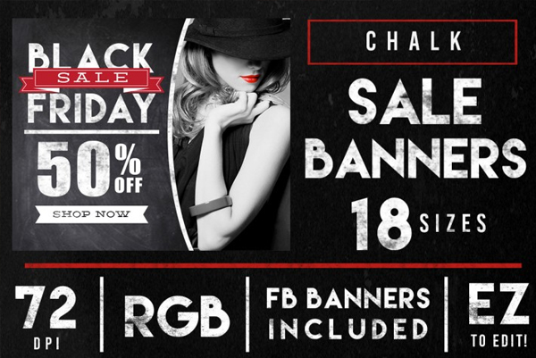 Chalkboard Black Friday Sales Banner