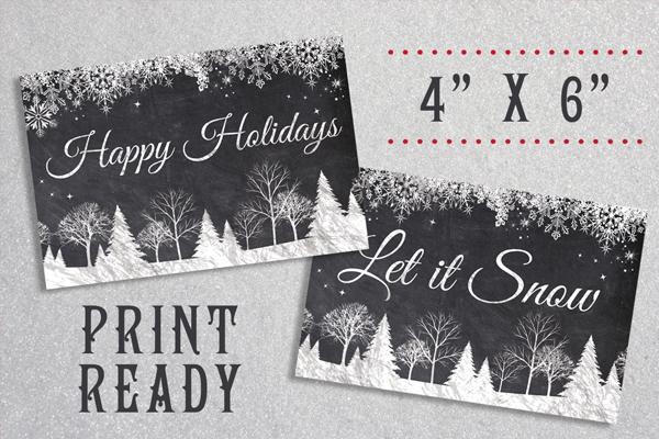 Chalkboard Christmas Cards