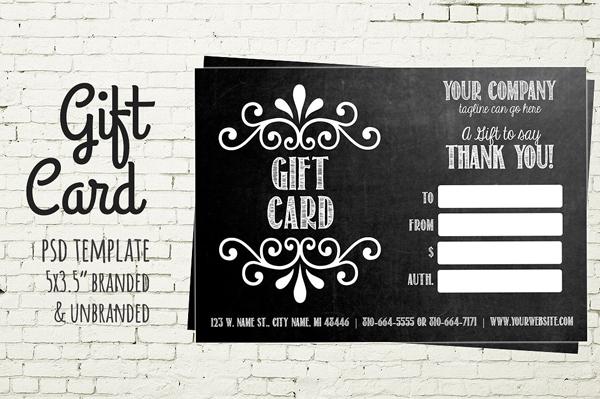 Chalkboard Graduation Gift Card Template