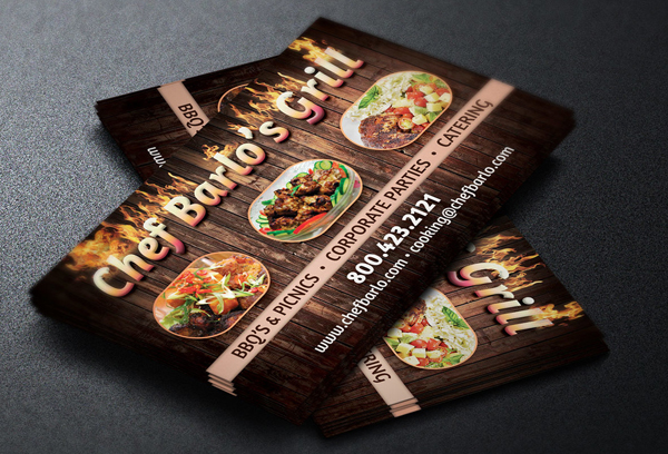 32 Food Business Card Templates Free