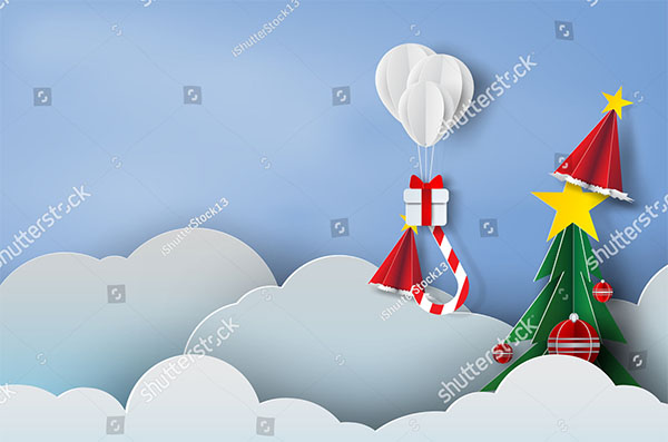 Christmas Paper Background Template