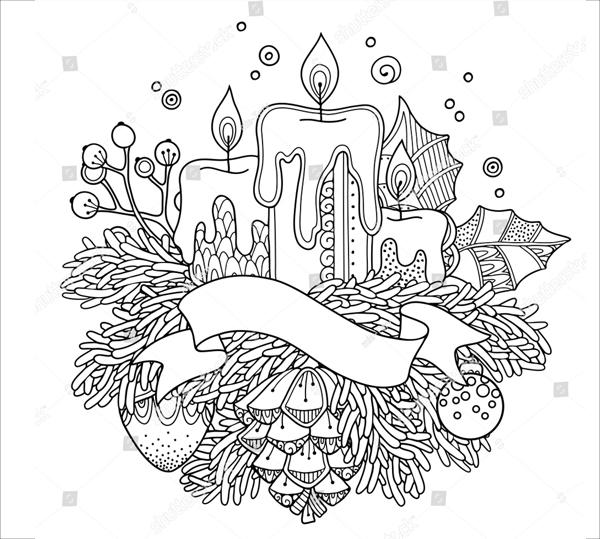 Christmas Decor Design Elements Drawing