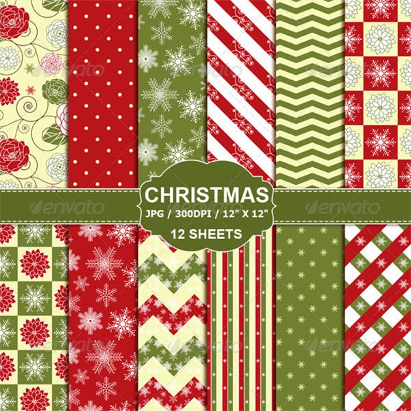 Christmas Digital Paper Pack Design