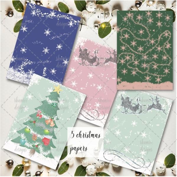 Christmas Gift Card Design Template