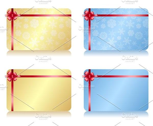 Christmas Vector Gift Card Template