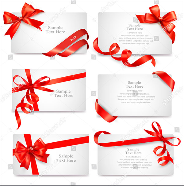 Christmas Beautiful Vector Gift Cards