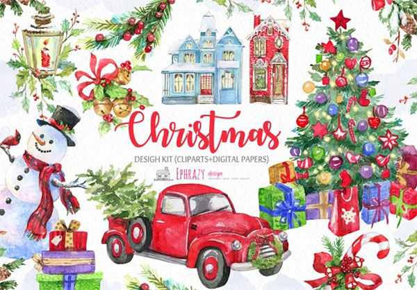 Christmas Clipart Paper
