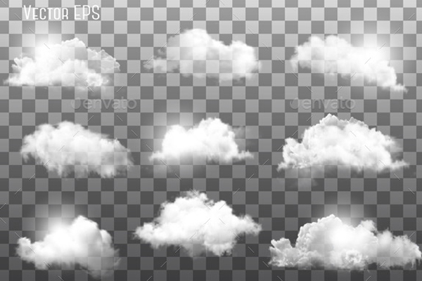 Clouds on Transparent Backgrounds