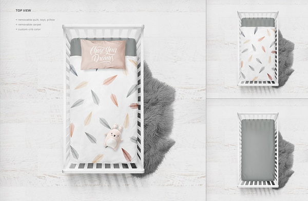 Crib Bedding Mockup Designs