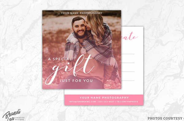 Custimize Photography Graduation Gift Certificate Template