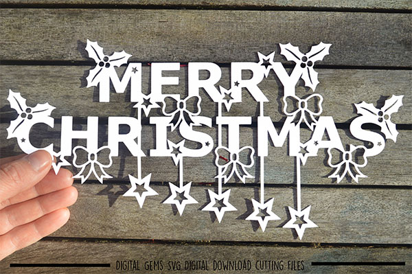 Cut Merry Christmas Paper