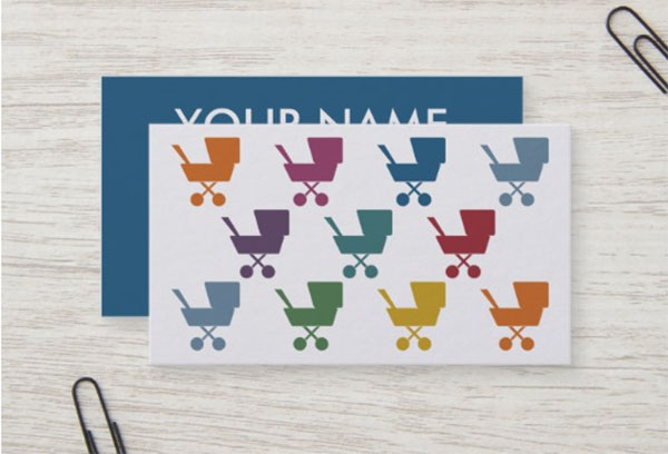 Cute Child Care Nanny Business Cards