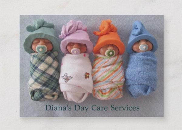 Day Care Provider Babies Original Business Card