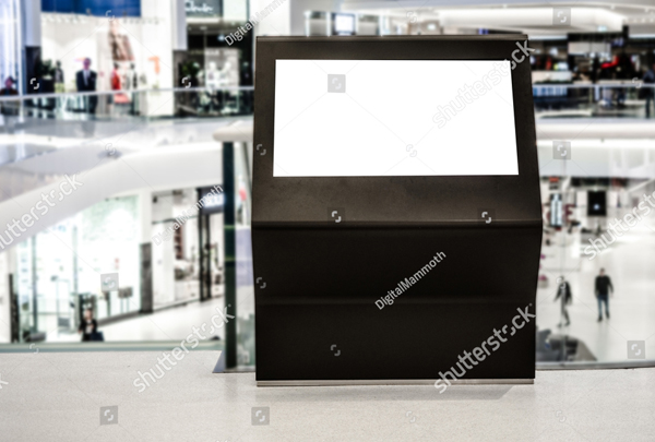 Digital Media Blank Black Signboard Mockup
