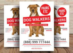 Dog Walker Flyer Templates