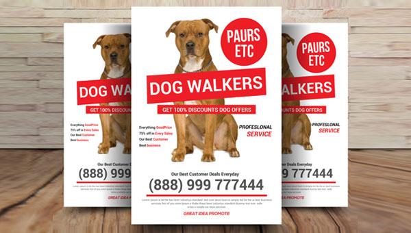26  dog walker flyer templates