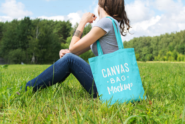 Editable Canvas Bag Mockup