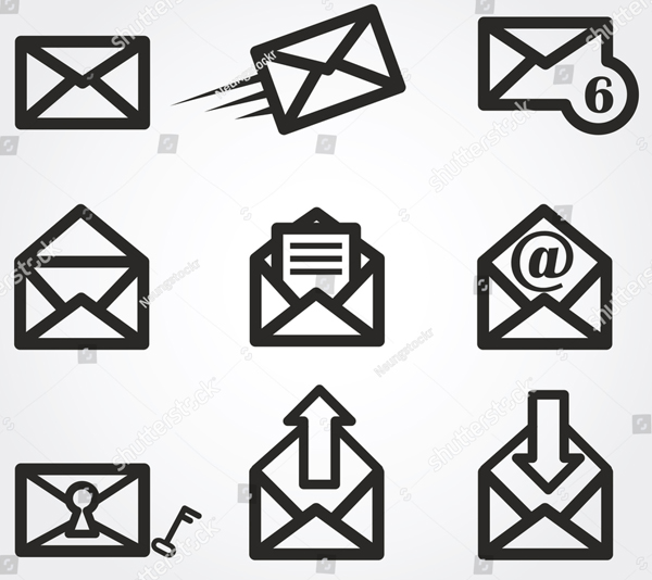 Email Vector Symbols Template