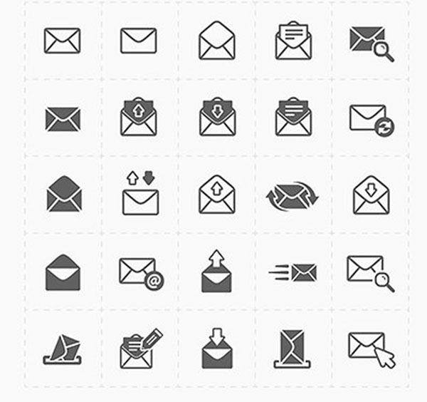 Email and Envelope Icons Template