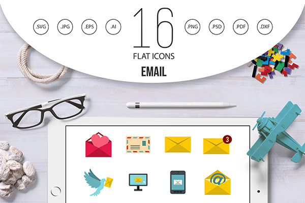 Email Icons Template Set