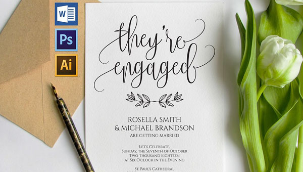 22 Engagement Invitations Free Psd Vector Eps Png Ai Downloads