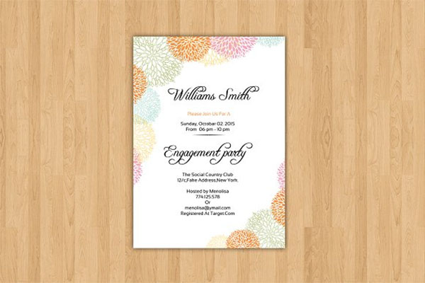 Engagement Party Invitation Design Template