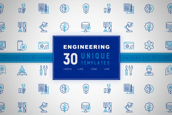 Engineering High Quality Icons Set