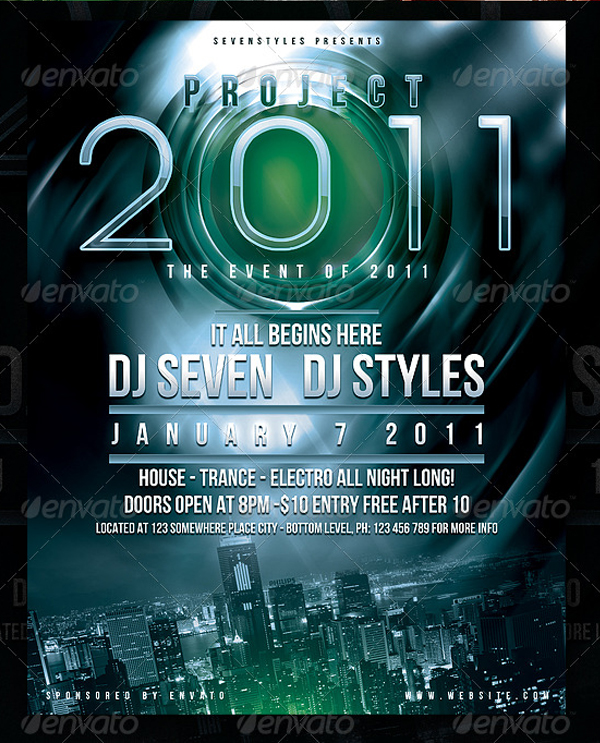 Event Neon Flyer & Poster Template