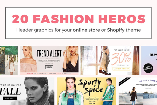 Fashion Header Sample Banner Templates