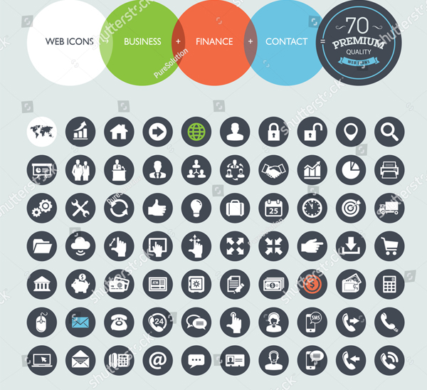 Finance High Quality Vector Icons