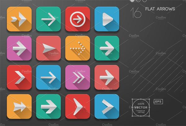 Flat Ui Design Arrow Buttons