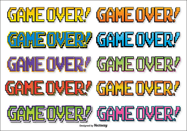 Free Comic Style Game Over Text