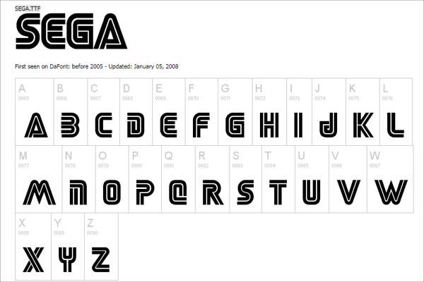Free Download Sega Logo Font