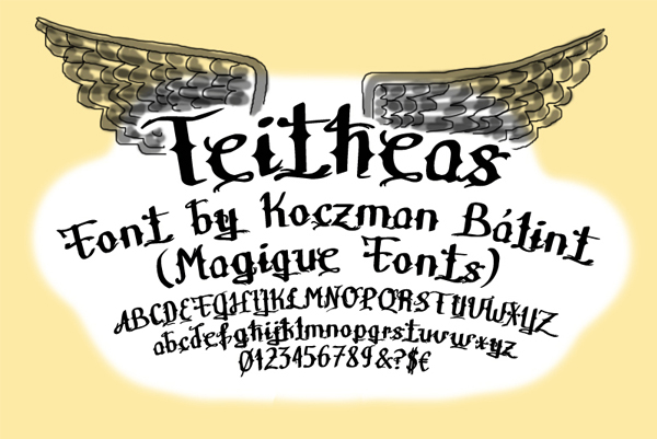 Free Download Teitheas Tattoo Fonts