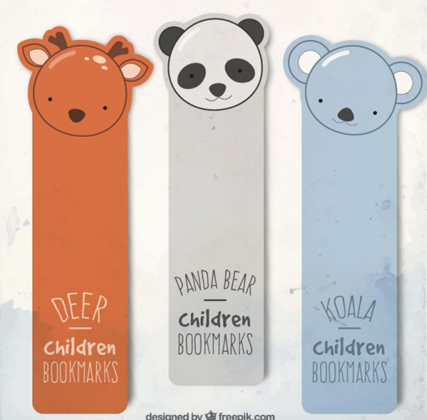 Free Download Vector Animal Bookmarks