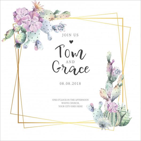 Free Elegant Wedding Invitation