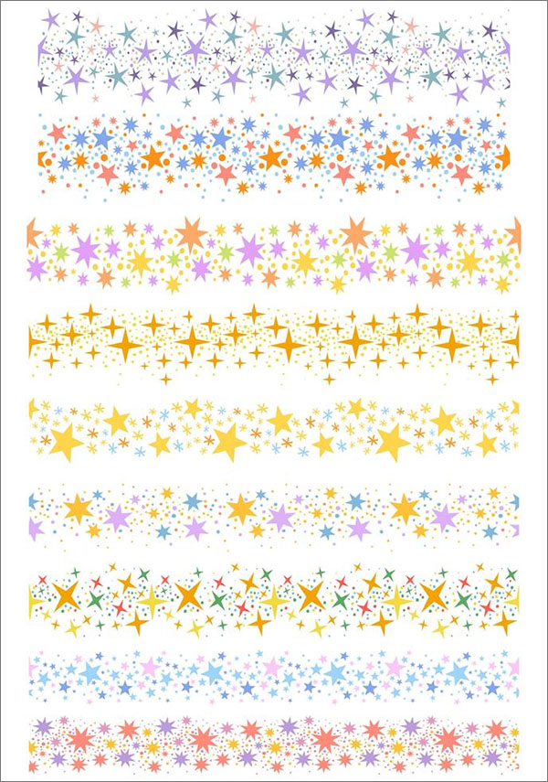 Free Star Dust Brushes Vectors