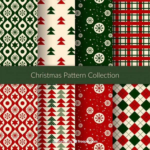 Free Vector Nice Christmas Patterns