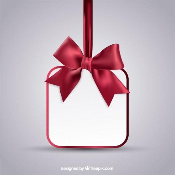 Free Vector Christmas Hanging Gift card