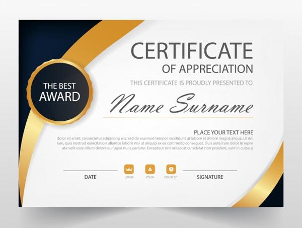 Free Vector Elegant Horizontal Certificate Template