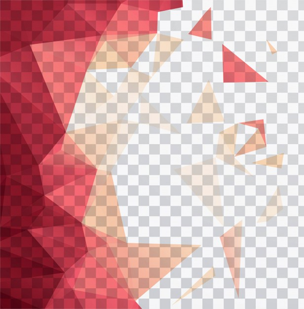 Free Vector Polygonal Shapes on a Transparent Background