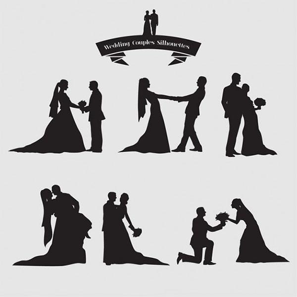 Free Vector Wedding Couples