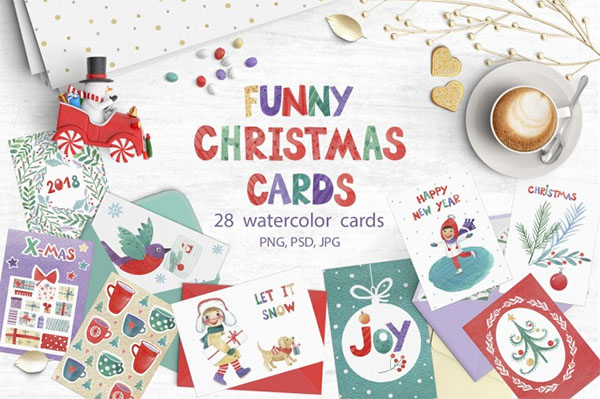 Funny Christmas Gift Cards Template
