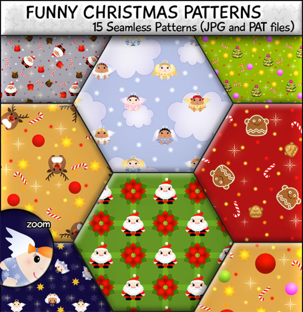 Funny Christmas Seamless Patterns
