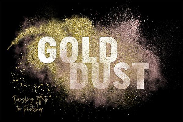 Gold Dust Glitter Effects